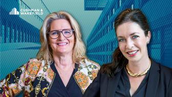 Cushman & Walkefield rekryterar Ewa Hellströmer (vänster) och Linda Persson (höger) till Agency Leasing.