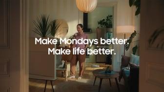 Make Life Better som illustrerer hvordan Samsungs løsninger og produkter samhandler med hverandre og kan forenkle hverdagen din