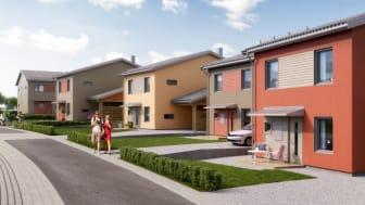 I projektet finns det fortfarande hus av modellen på 136 kvadratmeter kvar till salu.