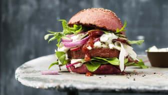 Plantebasert: Sensational Burger fra Nestlés Hälsans Kök hjelper nordmenn mot et mer bærekraftig kosthold.