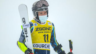 Second place for Sara Hector in the Courchevel Giant Slalom