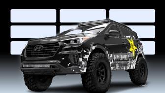 Dette er Hyundais lystgassdrevne Santa Fe off-road bil, bygget av Rockstar Performance  Garage