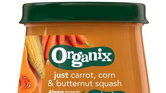 Organix just carrot, corn & butternut squash