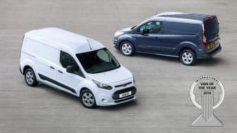 Nya Ford Transit Connect tar hem utmärkelsen International Van of the Year 2014 – som första tillverkare får Ford priset två år i rad