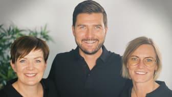 Fra venstre: May Britt Østby, Henning Eriksen og Nina Kleppe