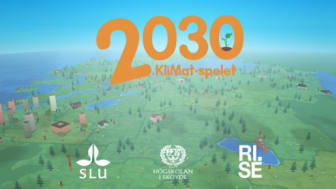 Bildtext: KliMat-spelet – en vetenskapligt förankrad spelprototyp som tar ett gemensamt grepp om aktuella frågor som rör mat, miljö och klimat. Illustration: Tobias Larson