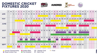Domestic Fixtures For 2020 Unveiled