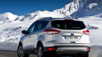 Nye Ford Kuga, vinterbilde bakfra