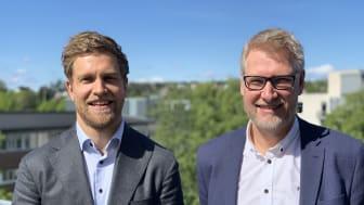 Herman Bjørn Smith (t.v) og Rune Winther leder arbeidet med digital innovasjon i Multiconsult