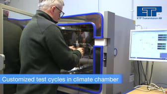 Climate test chamber at ETP
