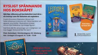 Rysligt spännande hos Bokskåpet i Göteborg