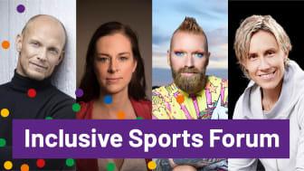 Tobias Karlsson, Lotta Schelin, Rickard Söderberg och Maria Rooth deltar under Inclusive Sports Forum.