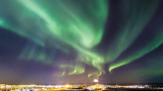 Photo by Gettyimages: Northern lights, or Aurora Borealis, in Swedish Lapland.