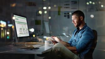 Schneider Electricin eValvomon käyttöliittymä toimii web-selaimella ja vaatii ainoastaan salatun internet-yhteyden. Kuva: Schneider Electric