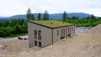 Norges første Termowoodhus i Hurdal.