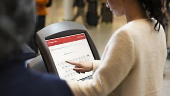 Fast and easy check-in at the airport with our self-service kiosks