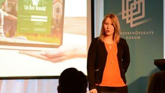 Meiju Vartiainen står bakom Tak över Huvudet – en av idéerna på Venture Cups Topp 20-lista. Foto: Entreprenörskapsforum