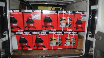 Boxes of hoovers that had tobacco inside