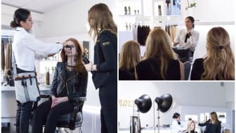 Hollywoodstylisten Jen Atkin på besök hos Rapunzel of Sweden