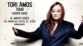 Den amerikanske sangerinde, sangskriver og pianist Tori Amos kommer til København til marts