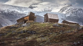 Tungestølen comprises nine pentagonal- and oblique-shaped cabins. Photo: Snøhetta