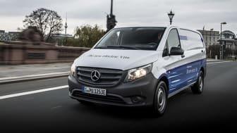 Eldrivna transportbilen eVito kommer att börja levereras under 2018.
