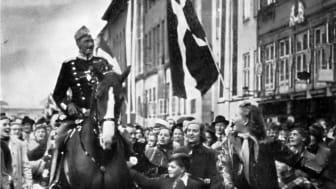 Danmarks kung Christian X i Köpenhamn 1940.