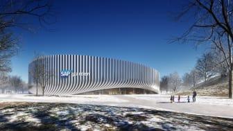 Die multifunktionale Sportarena SAP Garden im Münchner Olympiapark wird Platz für bis zu 11.500 Zuschauerinnen und Zuschauer bieten. copyright / Visualisierung: 3XN Architects