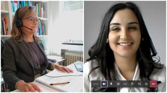 Mittlerweile Profis im Umgang mit dem Virtual Classroom: Studiengangsleiter Prof. Dr. Susanne Steimer und Masterstudentin Stephanie Adam