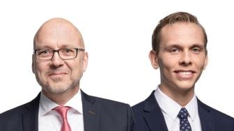 Magnus Landvik (till vänster) och Erik Ellenfors (till höger) har rekryterats till Cushman & Wakefields uthyrningsteam.