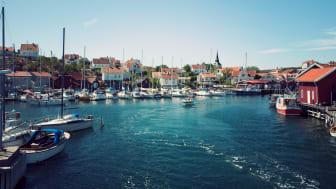 Fotograf: Maja Kristin Nylander. Bilden visar Gullholmens gästhamn på västkusten.