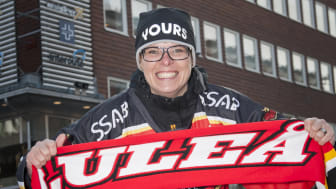 Luleå Hockeys matcher sänds på storbildsskärm i centrum