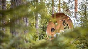 """""""Oddis öga"""" är en av två häftiga kojor hos Näsets Marcusgård i Furudal. Foto: Näsets Marcusgård."""