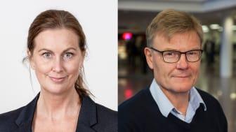 Jennie Enström, kanslichef i Strängnäs kommun och Stig Montin, professor vid Förvaltningshögskolan i Göteborg, delar på 2019 års Axelpris.