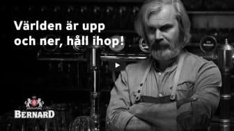 """Bernard uppmanar i ny reklamfilm: """"Låt oss hålla ihop"""". Filmregissören Jiří Mádl har gjort en reklamfilm för Bernard Family Brewery."""