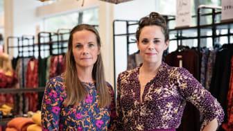 Lena von Segebaden, inköpschef och Helena Leach Squire, kreativ chef