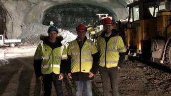 Vi besökte tunneln i Sätra, med Näringslivschefen i Sigtuna Mathias Forsberg, Märsta Förenades ordförande Jan Olson och Mattias Ytterberg, transportledare på Märsta Förenade.