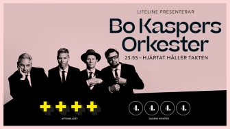 """Extrakonserter av Bo Kaspers Orkesters hyllade show """"23:55 - Hjärtat håller takten"""""""