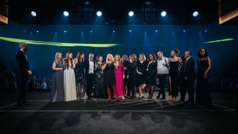 "Christel Ericson med team tar emot priset ""Quality Hotel of the Year"" (Foto: Erik N.H. Krafft)"