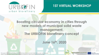 VIDEO AND PRESENTATION OF THE 1ST URBIOFIN VIRTUAL WORKSHOP