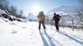 Denne vinteren har Bergans' Slingsby-kolleksjon fått nye freshe farger. Foto: Bergans / Hans Kristian Krogh Hanssen
