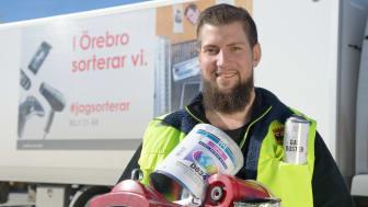I Örebro sorterar vi. Fotograf: Örebro kommun