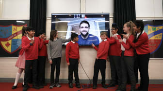 Chris Woakes School assembly