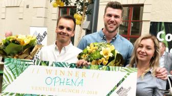 Från vänster: Simon Geldner, Anton Fast, Marina Mossberg, idépartner