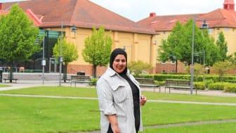 Heba Elkadi från Egypten, Global Swede från Högskolan Kristianstad 2021.