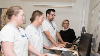 På bilden, från vänster: Malin Lennmark, Lisa Sjöström, Oscar Petrine och Paula Johagen