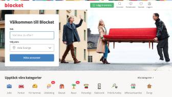 Blocket gör om sin hemsida - Sverigekartan är ett minne blott!