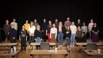 Representanter for mange av mottakerne var samlet til overrekkelse av tildelingene på Sentralen i Oslo tirsdag 7. september.