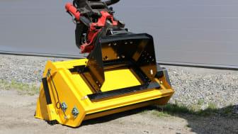 Fäste för grävmaskin på valsspridare 2