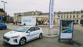 Hyundai inviterte publikum til prøvekjøring av Hyundai IONIQ fra Oslo S